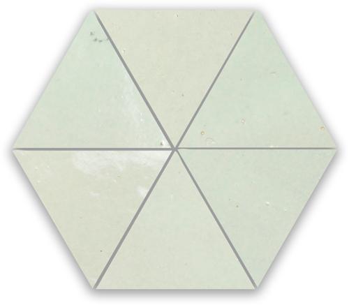 Zellige Vert Clair Triangle