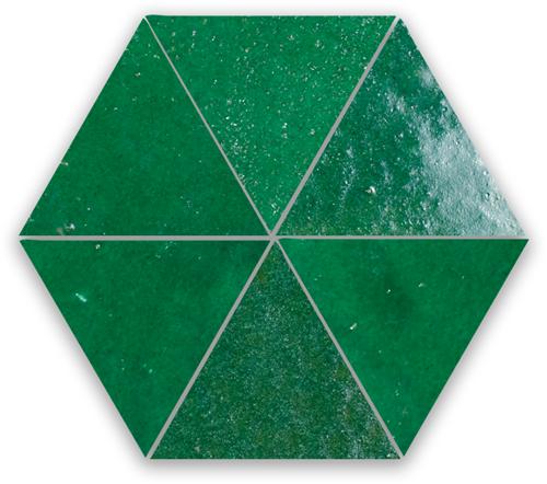 Zellige Vert Foncee Triangle
