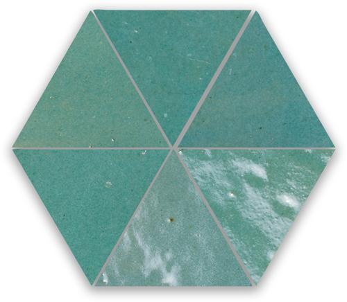 Zellige Vert Gris Triangle