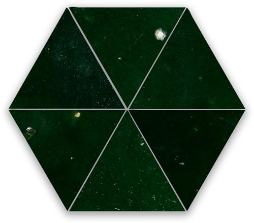 Zellige Vert Mousse Triangle