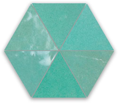 Zellige Vert Turquoise Triangle