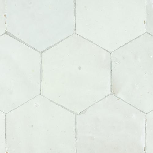 SAM Zellige Blanc Hexagone