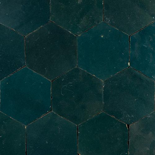 SAM Zellige Bleu Marine Hexagone