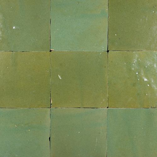 Zellige Vert Gris Foncee 10x10cm