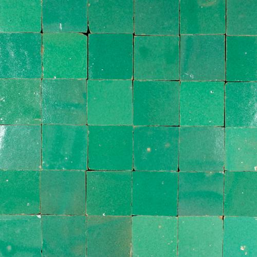 Zellige Vert Turquoise 5x5cm